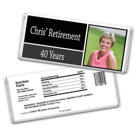 Retirement Personalized Chocolate Bar Wrappers Photo Colorblock