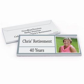Deluxe Personalized Retirement Kudos Hershey's Chocolate Bar in Gift Box