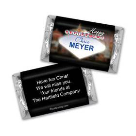 Retirement Personalized Hershey's Miniatures Wrappers Vegas City Lights