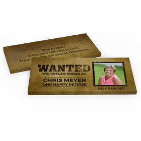 Deluxe Personalized Retirement Wanted Hershey's Chocolate Bar in Gift Box