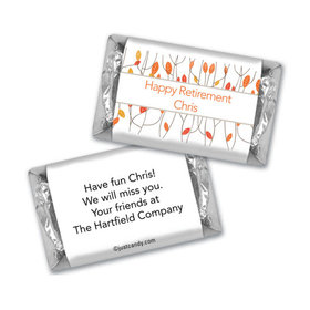 Retirement Personalized Hershey's Miniatures Wrappers Watercolor Leaves
