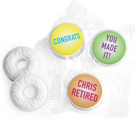 Retirement Favors - 4 U Stickers - Life Savers