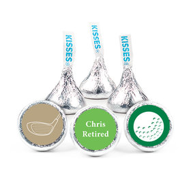 Retirement Favors - Gone Golfin' Stickers - Kisses Candy Assembled Kisses (50 Pack)