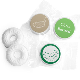 Retirement Favors - Gone Golfin' Stickers - Life Savers