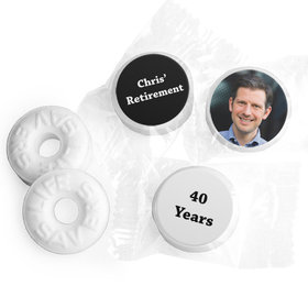 Add Your Photo Retirement Stickers Personalized Life Savers