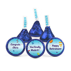 Personalized Retirement All Fun Hershey's Kisses (50 pack)