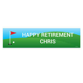 Personalized Golf Retirement 5 Ft. Banner