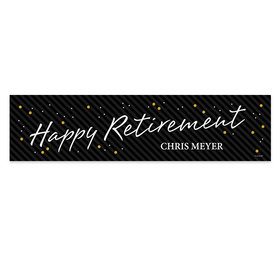 Personalized Striped Retirement 5 Ft. Banner