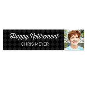Personalized Photo Retirement 5 Ft. Banner