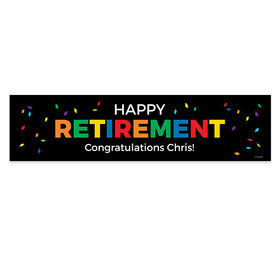 Personalized Confetti Retirement Banner