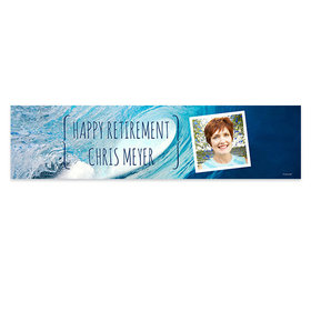 Personalized Ocean Wave Retirement 5 Ft. Banner