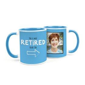 Personalized Retirement Photo 11oz Mug
