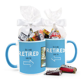 Personalized Retirement Photo 11oz Mug with Hershey's Miniatures