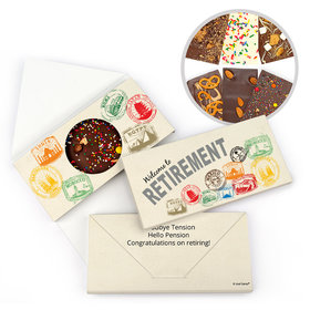 Personalized Retirement Passport Gourmet Infused Belgian Chocolate Bars (3.5oz)
