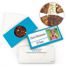 Personalized Retirement Colorful Kudos Gourmet Infused Belgian Chocolate Bars (3.5oz)