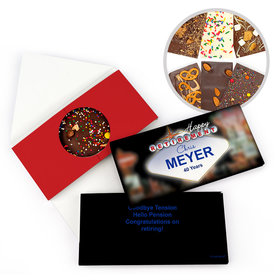 Personalized Retirement Vegas Gourmet Infused Belgian Chocolate Bars (3.5oz)