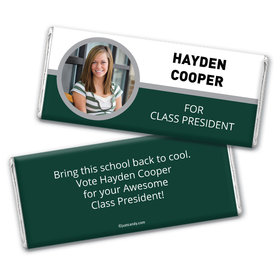 School Election Campaign Personalized Chocolate Bar Wrappers Photo Name