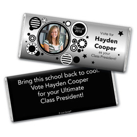 School Election Campaign Personalized Chocolate Bar Photo Dots