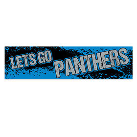 Let's Go Panthers Football Party Banner