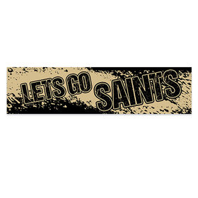Let's Go Saints Football Party Banner