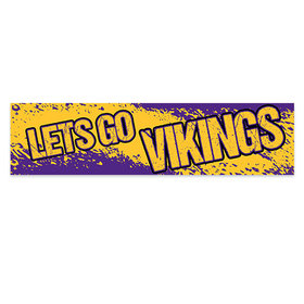 Let's Go Vikings Football Party Banner