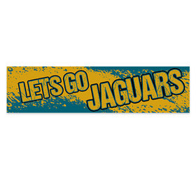 Let's Go Jaguars Football Party Banner