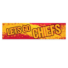 Let's Go Chiefs Football Party Banner
