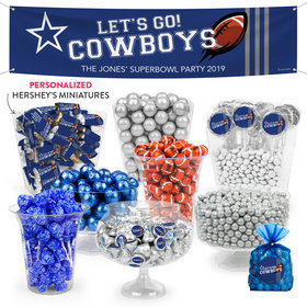Personalized Cowboys Football Party Deluxe Candy Buffet