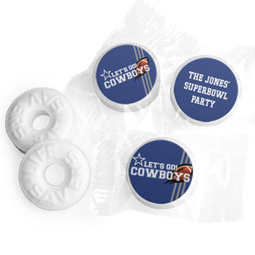 Personalized Cowboys Football Party Life Savers Mints