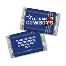 Personalized Hershey's Miniatures Wrappers Cowboys Football Party