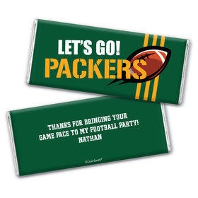 Personalized Packers Football Party Chocolate Bar Wrappers Only
