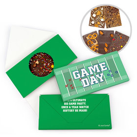 Personalized Sports Football Field Gourmet Infused Belgian Chocolate Bars (3.5oz)