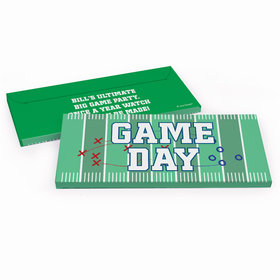 Deluxe Personalized Football Field Chocolate Bar in Gift Box