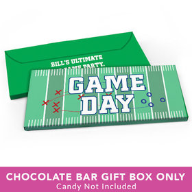 Deluxe Personalized Football Field Candy Bar Favor Box