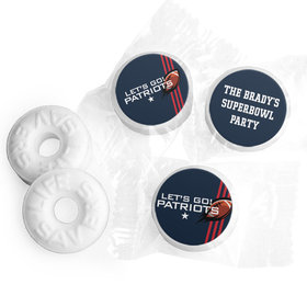 Personalized Patriots Football Party Life Savers Mints