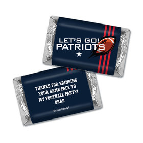 Personalized Hershey's Miniatures Wrappers Patriots Football Party