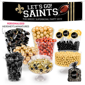 Personalized Saints Football Party Deluxe Candy Buffet
