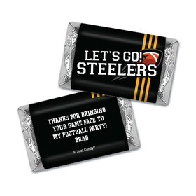 Personalized Hershey's Miniatures Wrappers Steelers Football Party