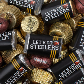 Let's Go Steelers Football Chocolate Mix