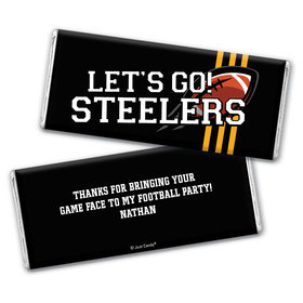 Personalized Steelers Football Party Hershey's Chocolate Bar & Wrapper