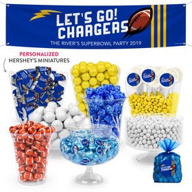 Personalized Chargers Football Party Deluxe Candy Buffet