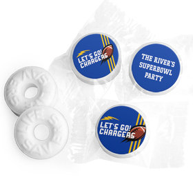Personalized Chargers Football Party Life Savers Mints
