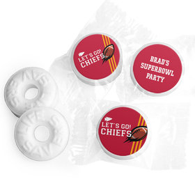 Personalized Chiefs Football Party Life Savers Mints