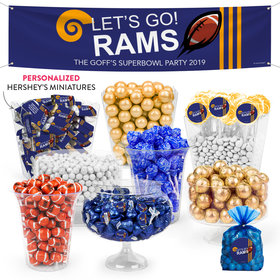 Personalized Rams Football Party Deluxe Candy Buffet
