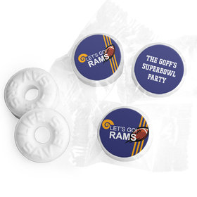 Personalized Rams Football Party Life Savers Mints