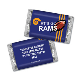 Personalized Hershey's Miniatures Wrappers Rams Football Party