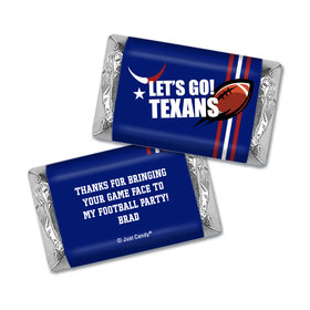 Personalized Hershey's Miniatures Wrappers Texans Football Party