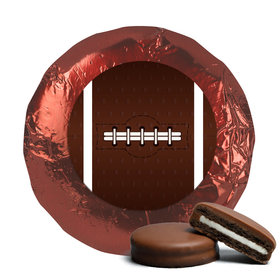 Super Bowl Themed Football Milk Chocolate Covered Burgundy Foil Oreos (24 Pack)