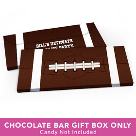 Deluxe Personalized Football Big Game Candy Bar Favor Box