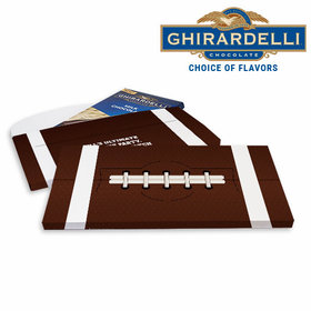Deluxe Personalized Super Bowl Themed Football Ghirardelli Chocolate Bar in Gift Box